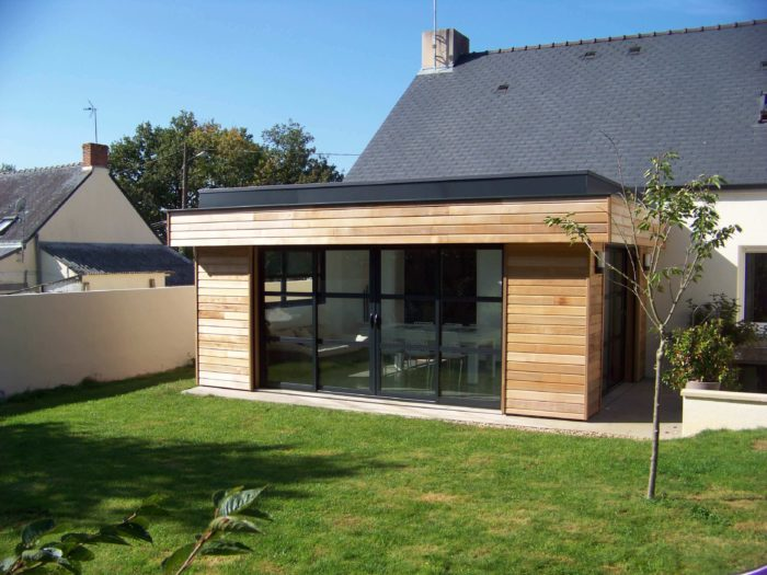 Agrandissement bois 22 m pontch teau 44 wood al for Extension garage prix