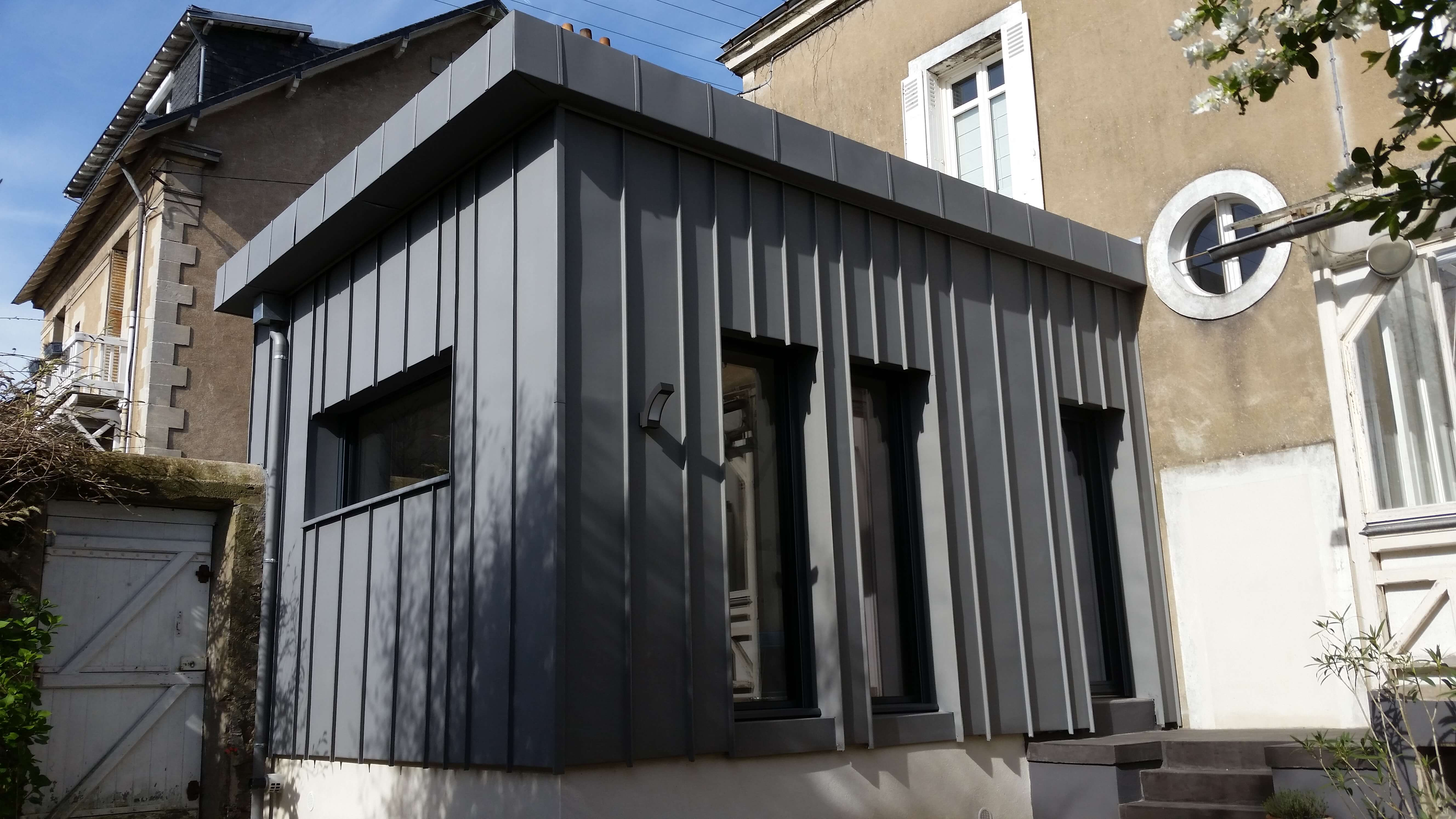 Extension + Bardage Zinc - Nantes centre (44)