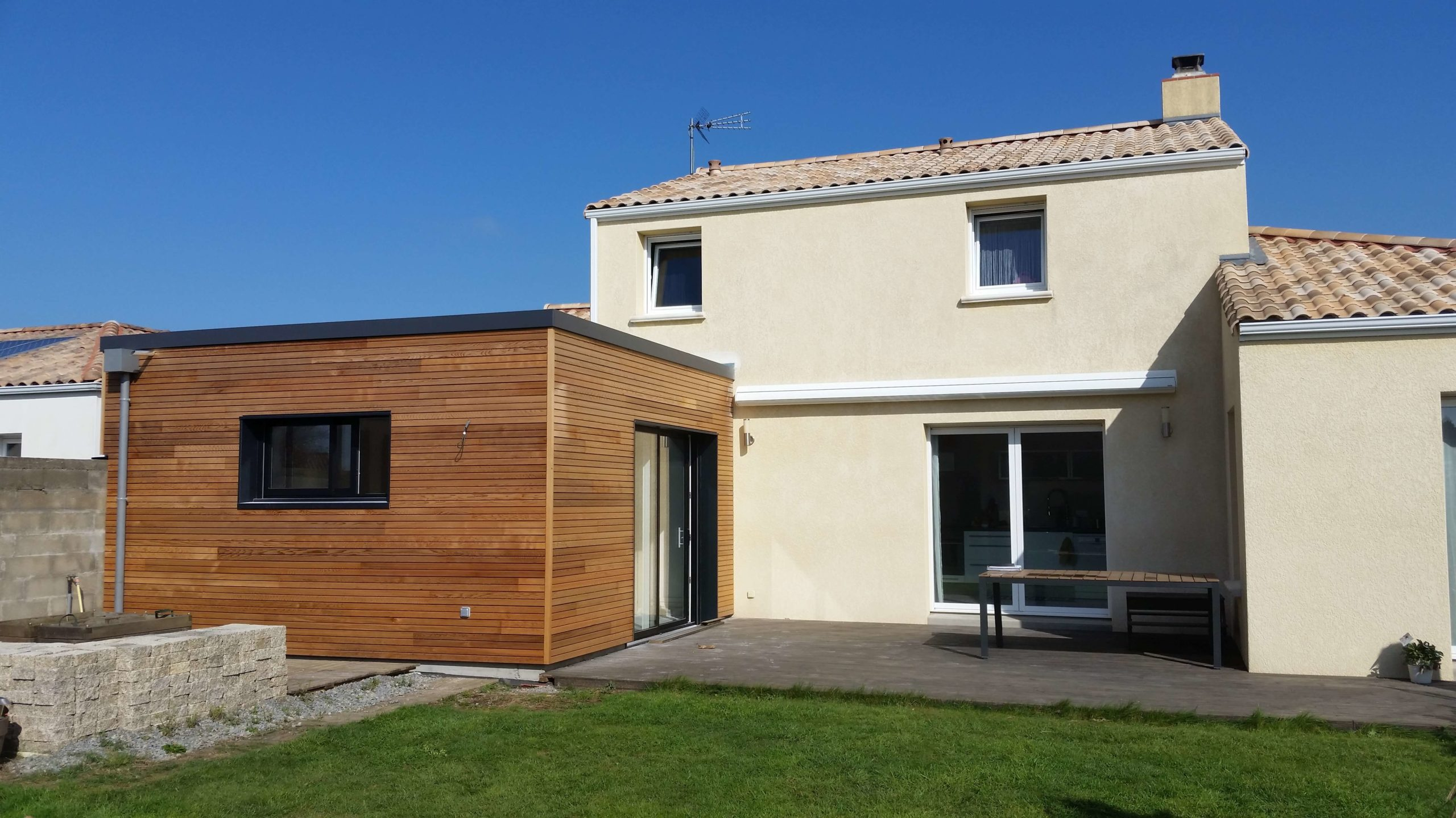 Extension avec bardage Red Cedar - Pornic (44)